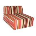 Canapés lit une place en rayures rouges