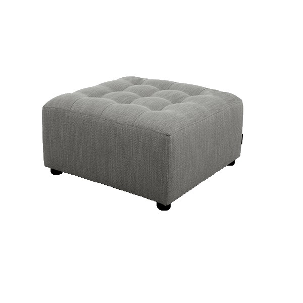pouf d coratif pour salon coloris gris souris. Black Bedroom Furniture Sets. Home Design Ideas