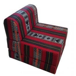 Canapés lit une place coloris Artisanale rouge