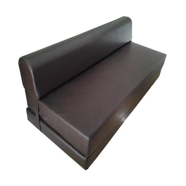 canap s lit trois places coloris marron chocolats. Black Bedroom Furniture Sets. Home Design Ideas