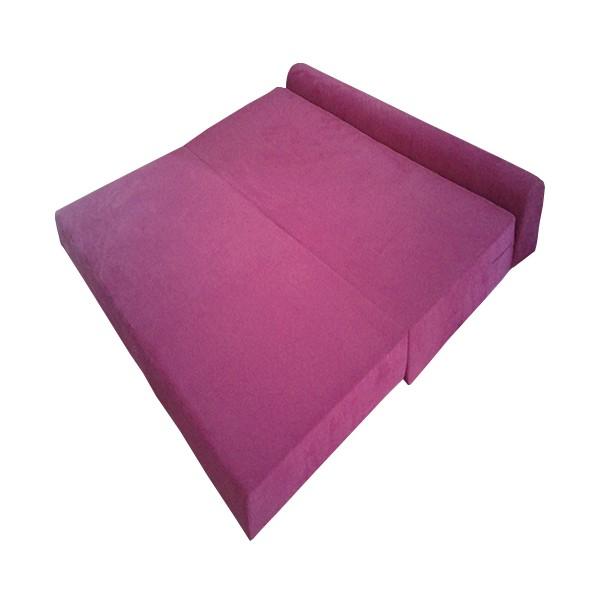 canap s lit trois places coloris rose. Black Bedroom Furniture Sets. Home Design Ideas