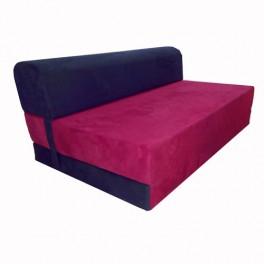 Canapés lit deux places coloris Rouge et noir